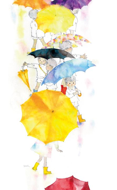 傘と子どもたち